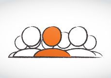 Líder empresarial Concept ilustración del vector