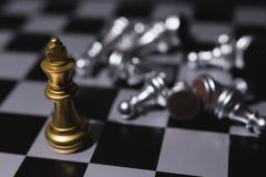 Líder empresarial Concept Juego de mesa del ajedrez Fotos de archivo