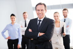 Líder empresarial confiado Imagen de archivo libre de regalías