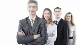 Líder, estando na frente da equipe do negócio Fotografia de Stock Royalty Free