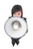 Líder (foco no megafone) Imagens de Stock