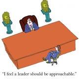 Líder grande del escritorio ilustración del vector