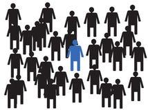 Líder junto com seus colegas de trabalho Imagens de Stock Royalty Free