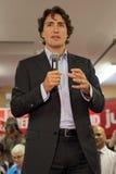 Líder Justin Trudeau del partido liberal imagenes de archivo