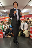 Líder Justin Trudeau del partido liberal imágenes de archivo libres de regalías