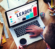 Líder Leadership Chief Team Partnership Concept Imagem de Stock Royalty Free