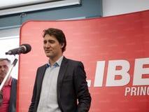 Líder liberal canadiense Justin Trudeau fotos de archivo