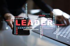 líder Liderança Teambuilding Conceito do negócio Nuvem das palavras fotografia de stock