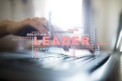 líder Liderança Teambuilding Conceito do negócio Nuvem das palavras fotos de stock royalty free