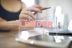 líder Liderança Teambuilding Conceito do negócio Nuvem das palavras fotografia de stock royalty free
