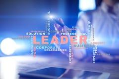 líder Liderança Teambuilding Conceito do negócio Nuvem das palavras imagens de stock