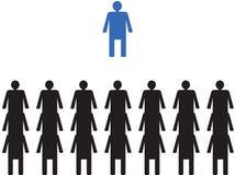 Líder na frente de seus colegas de trabalho Imagens de Stock