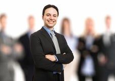 Líder na frente de sua equipe Imagem de Stock Royalty Free