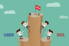Líder ou chefe, molde Imagem de Stock Royalty Free