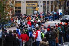 Líder para mujer Pack del maratón de 2014 NYC Imagen de archivo