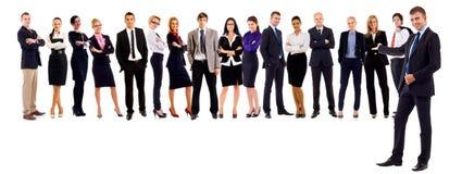 Líder que apresenta sua equipe Imagem de Stock