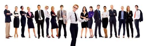 Líder que dá boas-vindas à equipe Imagem de Stock Royalty Free