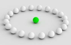 Líder que lleva el equipo en el ejemplo del círculo Fotografía de archivo