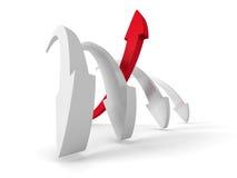 Líder Red Arrow Of Team Group achivement do sucesso comercial Ilustração do Vetor