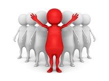 Líder rojo acertado del grupo del equipo Fotos de archivo