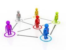 Líder Ship Concept, conceito da rede do negócio rendição 3d ilustração do vetor