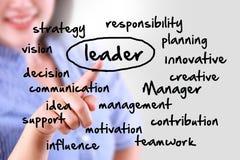 Líder tocante da mulher de negócio Imagens de Stock