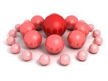 Líder vermelho da esfera da equipe abstrata do negócio Foto de Stock