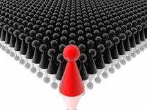 Líder vermelho da gerência Imagem de Stock Royalty Free