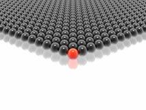 Líder vermelho do grupo das esferas Foto de Stock Royalty Free