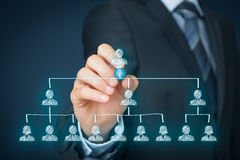 Líder y CEO Imagen de archivo libre de regalías