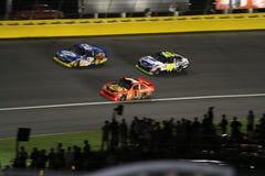 Líderes All-star da raça de NASCAR 2010 que incorporam a volta 3 Foto de Stock Royalty Free