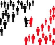 Líderes da companhia que agitam as mãos Imagens de Stock Royalty Free
