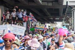 Líderes de la demostración antigubernamental en Bangkok. Foto de archivo