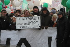 Líderes de oposição Navalny, Nemtsov, Chirikova, Imagem de Stock Royalty Free