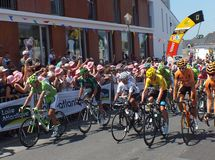 Líderes do Tour de France Fotos de Stock