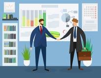 Líderes empresariales que se encuentran en oficina colaboraci?n libre illustration