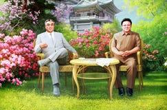 Líderes norte-coreanos fotografia de stock royalty free