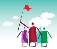Líderes y muchedumbre de la gente libre illustration