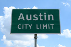 Límite de ciudad de Austin Fotos de archivo libres de regalías