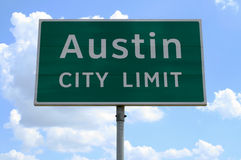 Límite de ciudad de Austin Fotografía de archivo