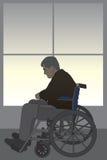 Límite de la silla de ruedas libre illustration