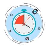 Límite de tiempo, plazo, concepto de la cuenta descendiente libre illustration