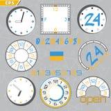 Límite de tiempo, plazo, ejemplo plano del concepto del estilo del diseño de la cuenta descendiente libre illustration