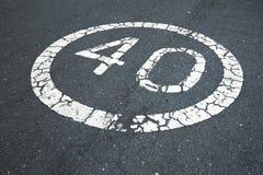límite de velocidad 40 Fotografía de archivo libre de regalías