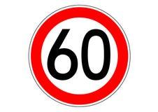 límite de velocidad en la bandera de la información de la guía de la señal de tráfico stock de ilustración