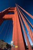 Límite de velocidad en puente de puerta de oro Fotos de archivo