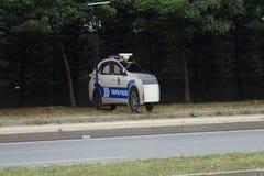 Límite de velocidad de medición de la policía falsa foto de archivo libre de regalías