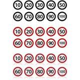Límites de velocidad stock de ilustración