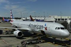 Línea aérea americana Imagen de archivo libre de regalías