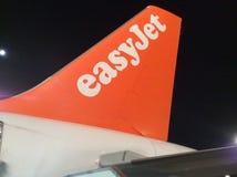 Línea aérea de EasyJet Imagen de archivo libre de regalías